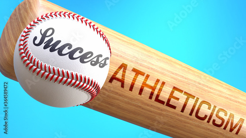 Success in life depends on athleticism - pictured as word athleticism on a bat, to show that athleticism is crucial for successful business or life Canvas Print
