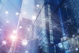 Fototapeta Kawa jest smaczna - Smart City and Wireless Communication Network.