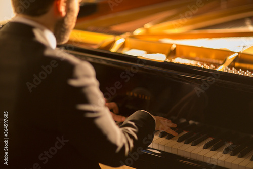 Pianist performing Canvas