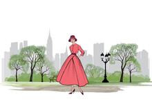 Retro Fashion Dressed Woman (1...