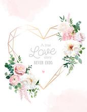 Flower Geometric Heart Line Ar...