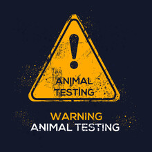 Warning Sign (animal Testing),...