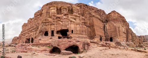 Fotografie, Obraz Royal Tombs Panorama, Petra, Wadi Musa, Jordan
