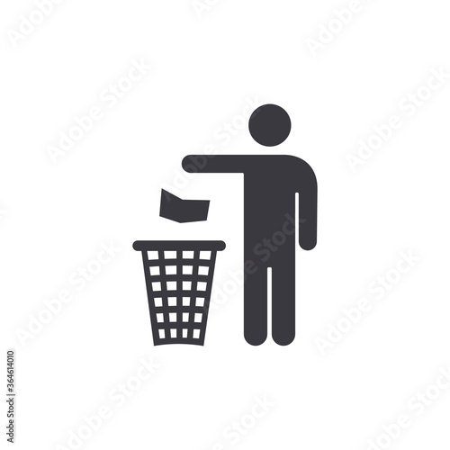 Fototapety, obrazy:  People Throwing Trash in Recycle Bin