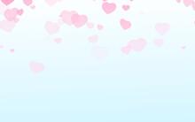 Valentine Day Pink Hearts On B...