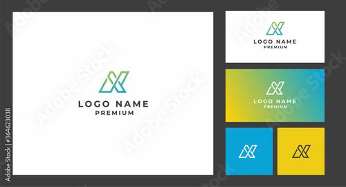 Corporate Logo design, latter logo, Colorful Poster Mural XXL