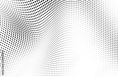 Fotografie, Obraz The halftone texture is monochrome. Vector chaotic background