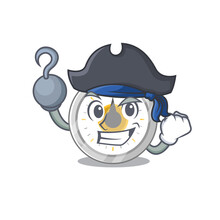 One Hook Hands Pirate Character Old Kitchen Timer Cartoon Design