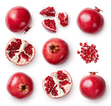 A Set Of Pomegranate Whole And...