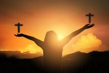 Christian Human Hands Open Pal...