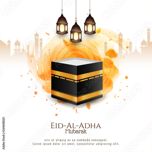 Obraz Beautiful Islamic Eid-Al-Adha mubarak background - fototapety do salonu