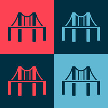 Pop Art Golden Gate Bridge Ico...