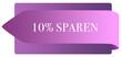 Leinwanddruck Bild - 10% sparen web Sticker Button