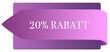 Leinwanddruck Bild - 20% Rabatt web Sticker Button