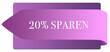 Leinwanddruck Bild - 20% sparen web Sticker Button