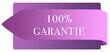 Leinwanddruck Bild - 100% Garantie web Sticker Button