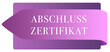 Leinwanddruck Bild - Abschluss Zertifikat web Sticker Button