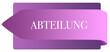 Leinwanddruck Bild - Abteilung web Sticker Button