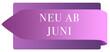 Leinwanddruck Bild - Neu ab Juni web Sticker Button