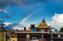 Bright Rainbow Arc Over A Budd...