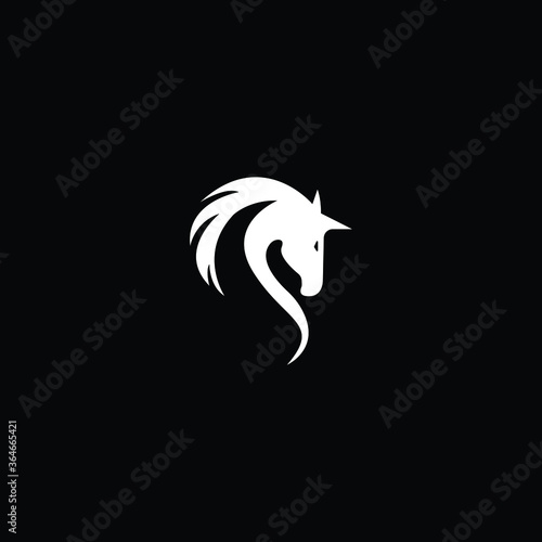 Fototapeta Horse logo vector illustration, emblem design. Horse Head Logo obraz