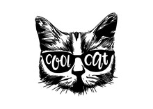 Cool Cat Vector Design