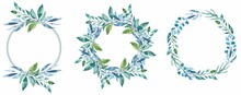 Eucalyptus Blue Green Frame Bouquet Wreath
