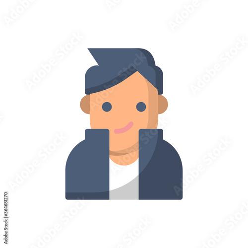 Photo Superstar flat icon style design illustration