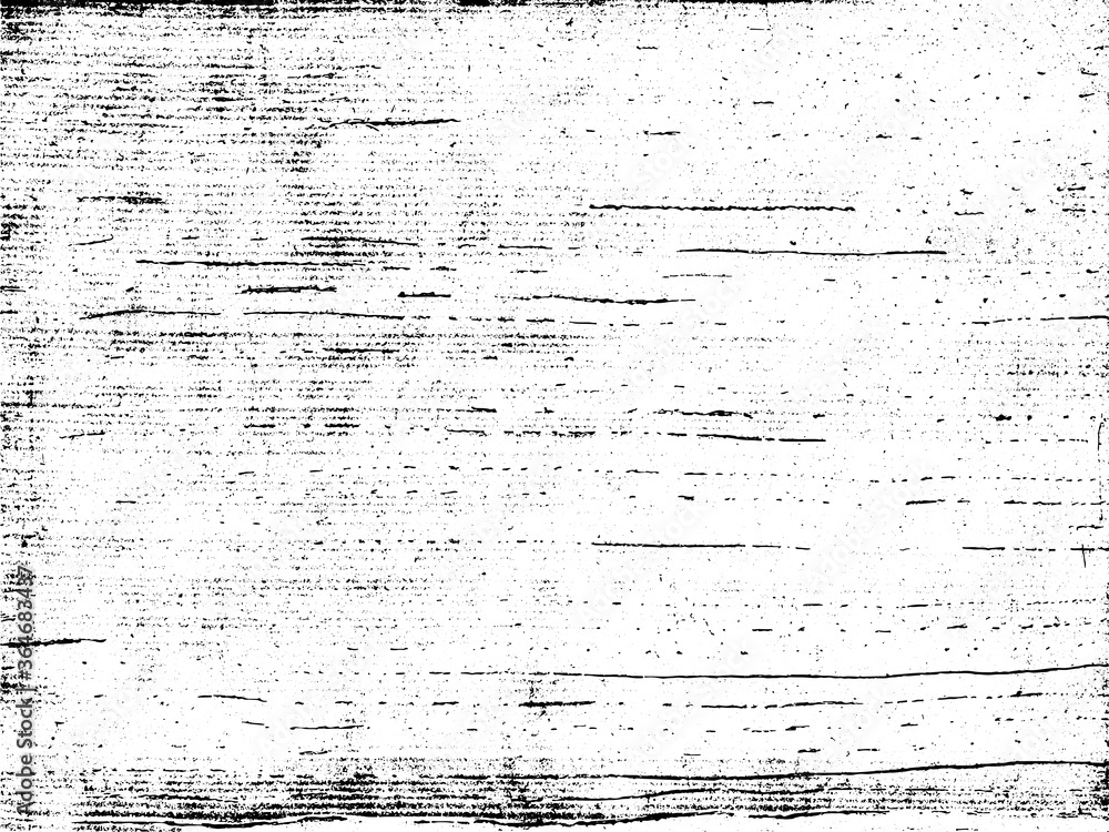 Fototapeta A black and white vector texture of scratched, scraped, distressed and grungy scraper board. The vector file contains a background fill layer and a texture layer to enable rapid color scheme changes.