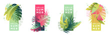 Tropical Artistic Banners Set....