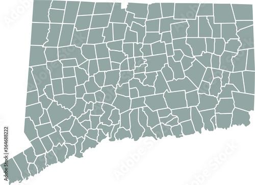 Fotografia Grey blank Connecticut state map.