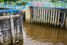 Dock Gates, Preston, Lancashire.