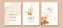 Set Of Card With Abstract Shap...