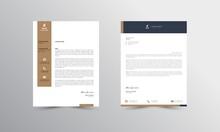 Abstract Letterhead Design Modern Business Letterhead Design Template - Vector