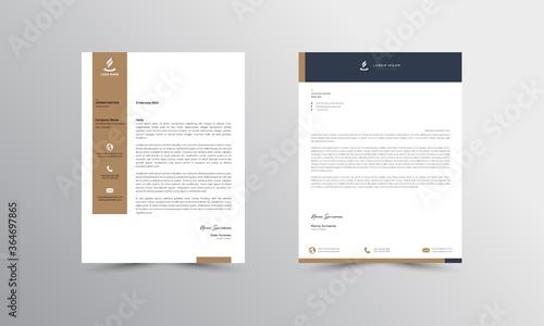 Fototapeta Abstract Letterhead Design Modern Business Letterhead Design Template - vector obraz