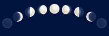 Moon Phases Illustration, Cele...