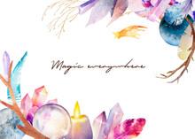 Watercolor Illustration. Magic...