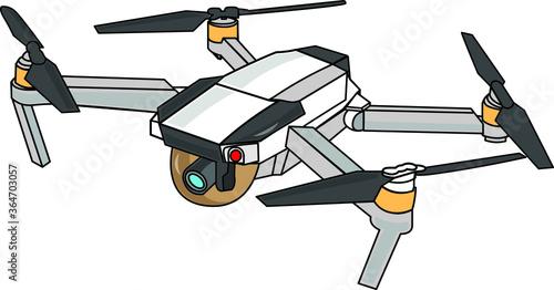 Fotografie, Tablou illustration of a modern drone quad copter