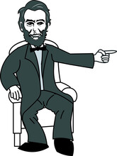 Abraham Lincoln Seating And Pointing