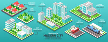 Isometric Modern City Infograp...