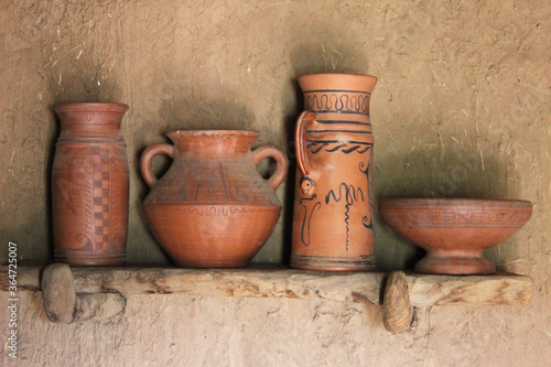 Ancient ceramic vessels from the Celtic period, found in Numancia (Soria). In them the Celts drank the caelia