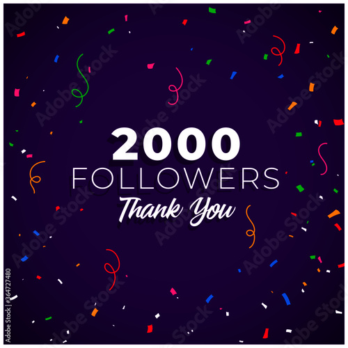 2000 followers network of social media Fototapet