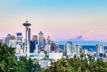 Seattle Cityscape With Mt. Rai...