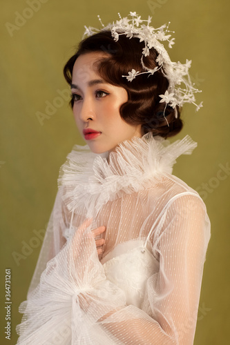 Portrait photo of beautiful asian woman