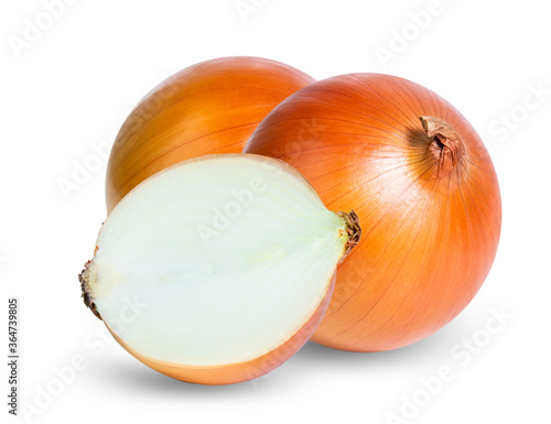 onion isolated on white background Canvas-taulu