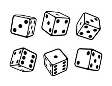 Game Dice Isometric Icons Set ...
