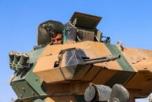 Turkish Tank Walking, Soldier ...