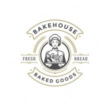 Bakery Badge Or Label Retro Ve...