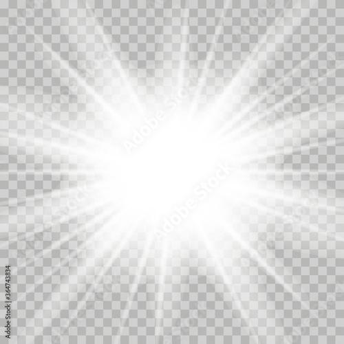 Papel de parede White glowing light burst explosion transparent