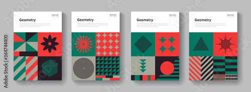 Collection of geometric covers Wallpaper Mural